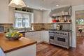 Kitchen, dining & powder room